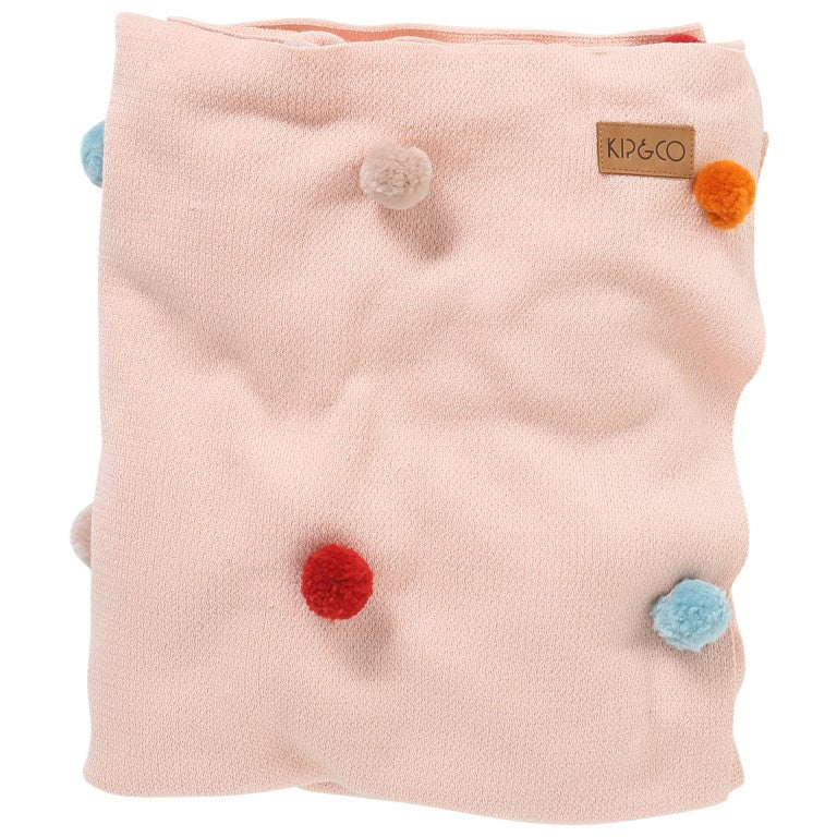 Kip and Co Cotton Blanket with Pompoms - Cot