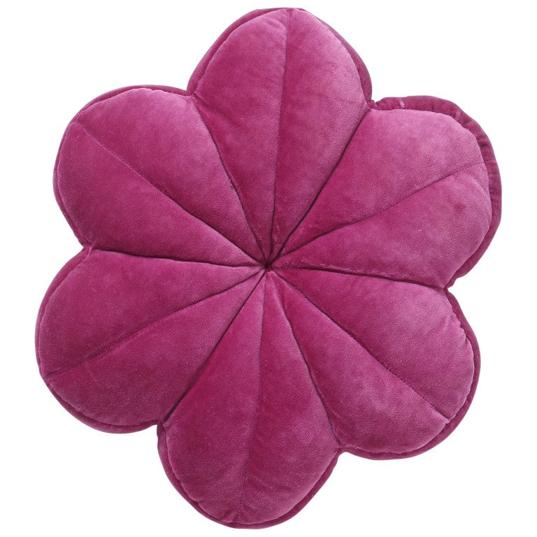 Kip & Co Velvet Flower Cushion - Passionfruit