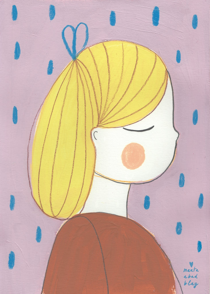 Marta Abad Blay Kids Art Prints - Ana