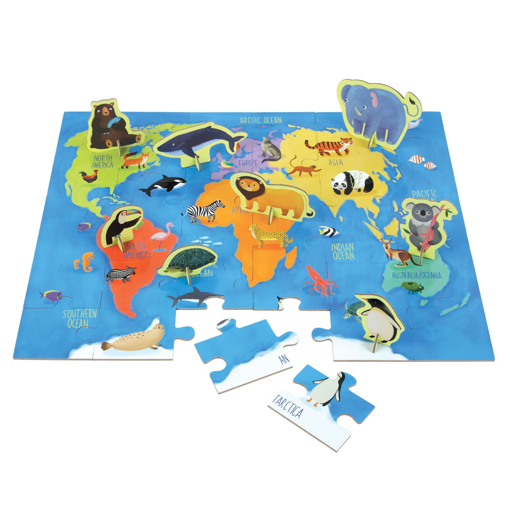 Mudpuppy Animals of the World Puzzle Play Set