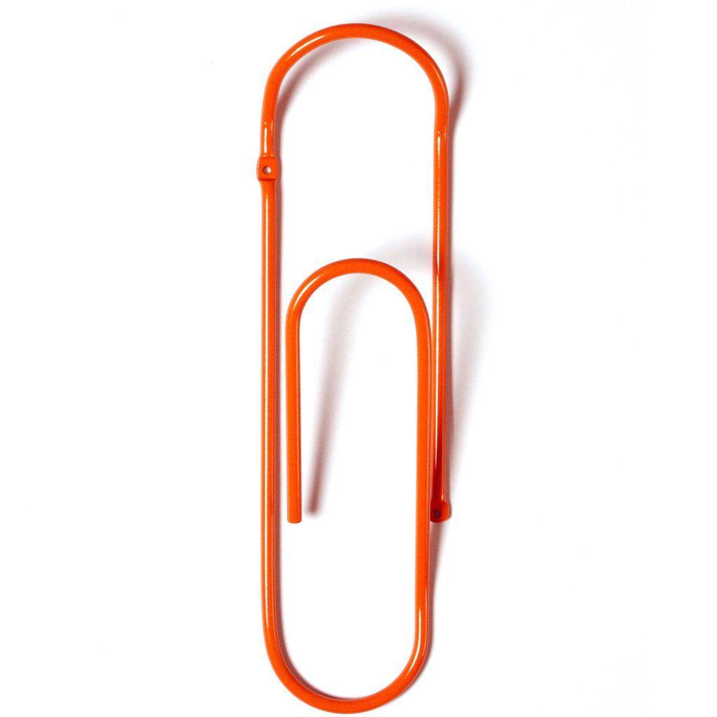 Bendo CLIP  Metal Wall Hook - Orange