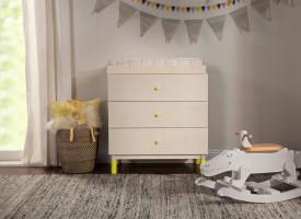 Babyletto - Gelato 3 Drawer Changer / Dresser - White and Washed Natural