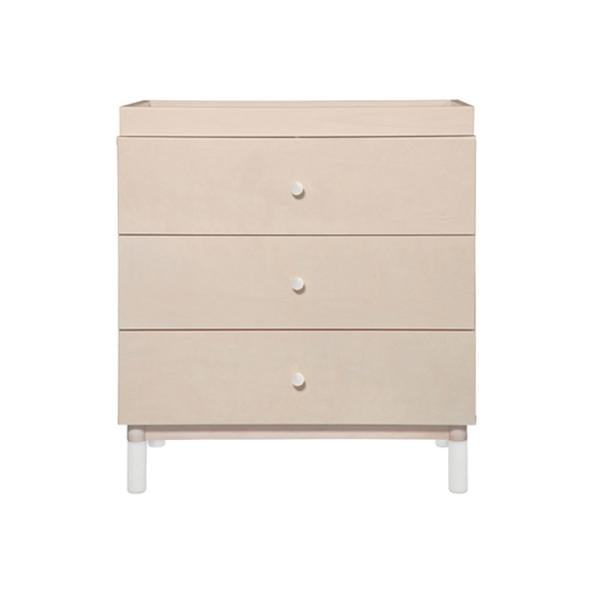 Babyletto - Gelato 3 Drawer Changer / Dresser - Washed Natural and White