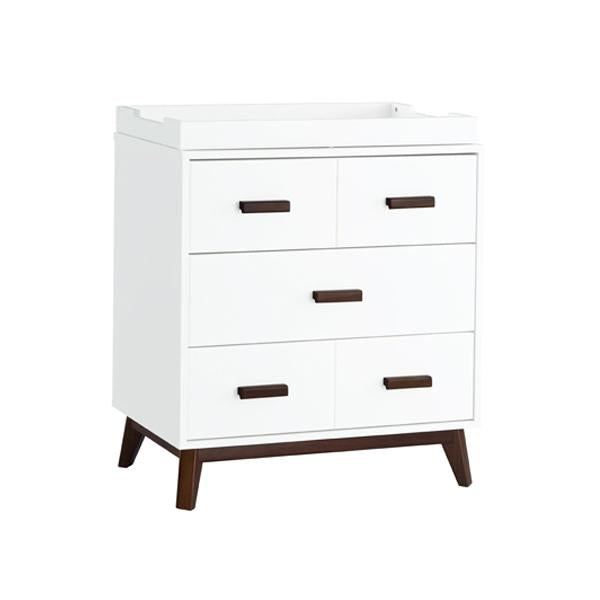 Babyletto - Scoot 3 Drawer Changer / Dresser - White with Walnut