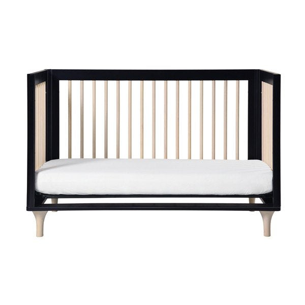 Babyletto Lolly 3 in 1 Cot Black & Washed Natural