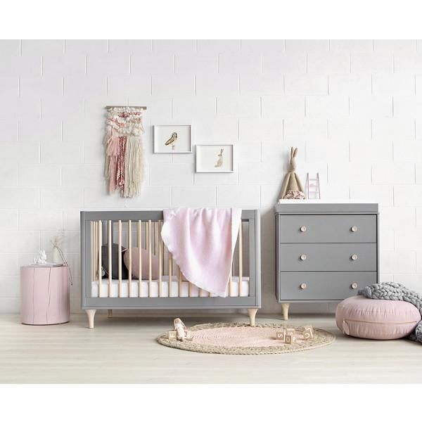 Babyletto Lolly 3 in 1 Cot Grey & Washed Natural