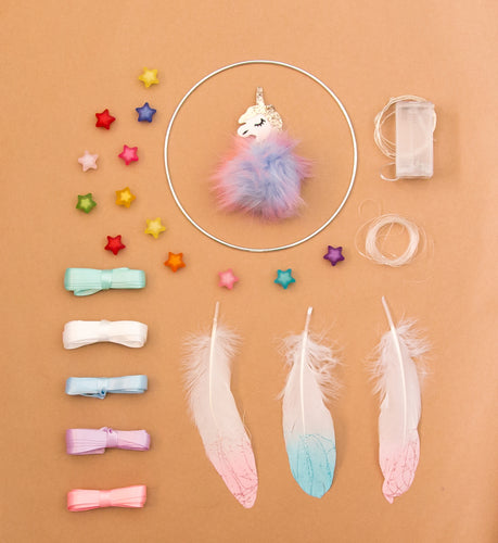 Huckleberry Creative Toys  Make Your Own Unicorn Dream Catcher