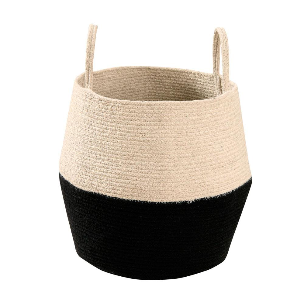 Lorena Canals Basket Zoco - Black and Natural