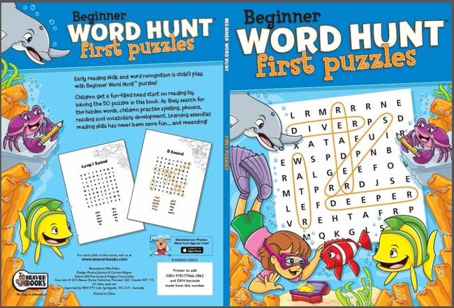 Beaver Learning Books - Beginner Word Hunt