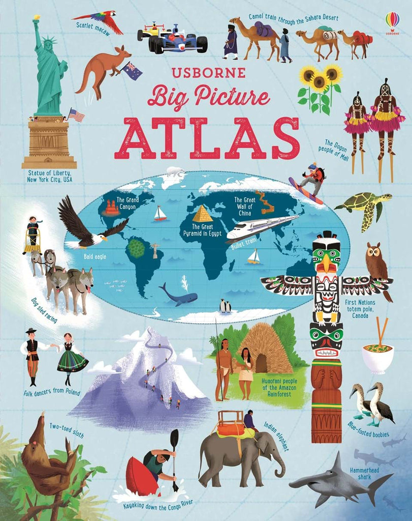 Children's Books Usborne Big Picture Atlas
