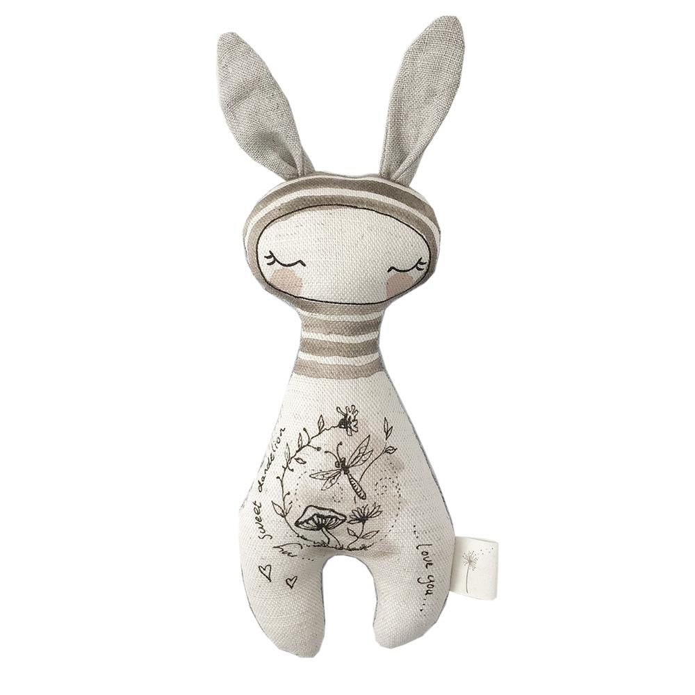 These Little Treasures Organic Swaddle and Rattle Gift Pack - Bunny