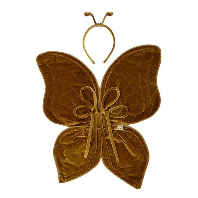 Numero 74 Butterfly Wings and Antenna Headband - Velvet Gold