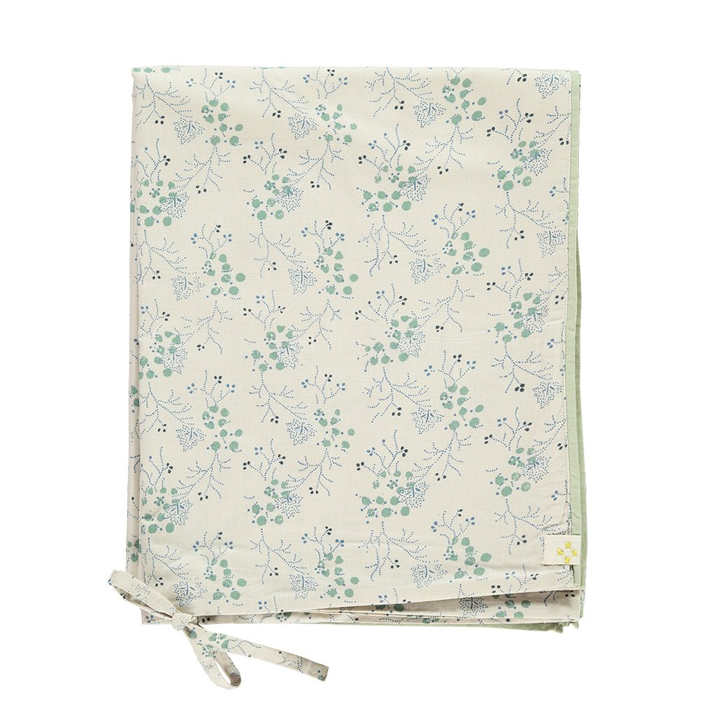 Camomile London Quilt Cover - Minako Floral Cornflower and Stone