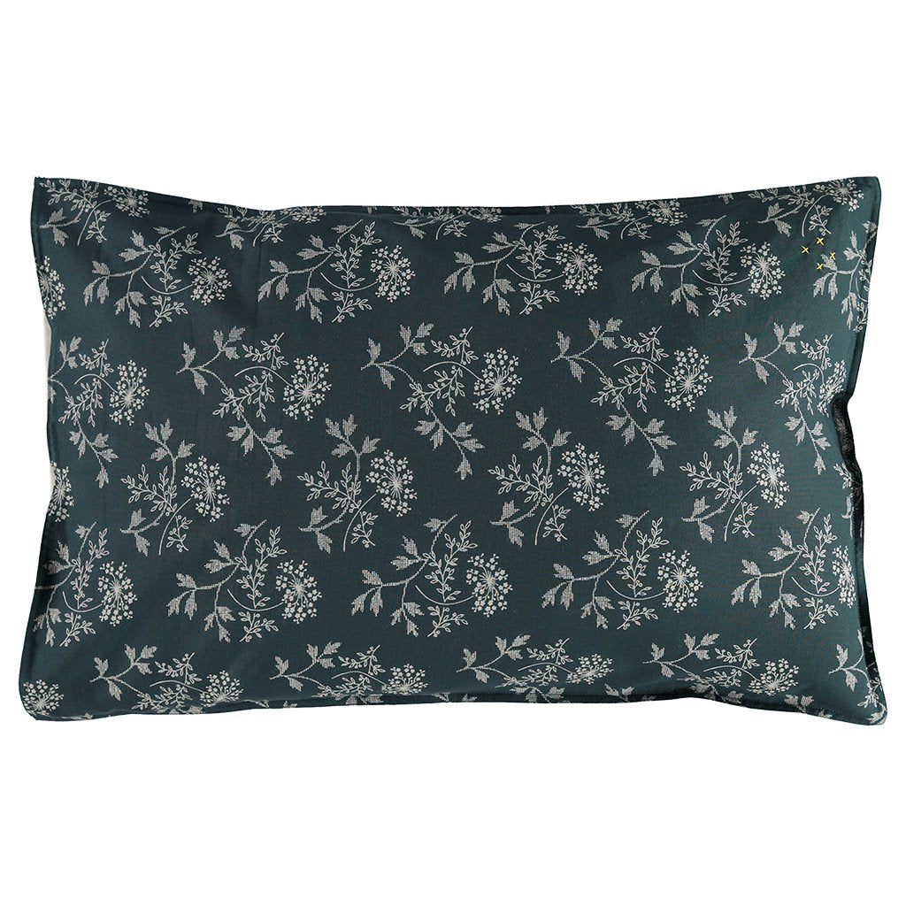Camomile London Cotton Pillowcase – Hanako Floral Thunder Blue