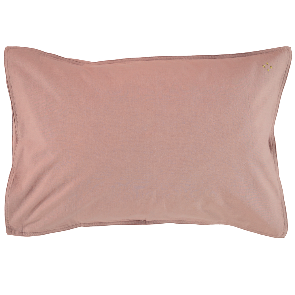 Camomile London Organic Cotton Pillowcase – Blush