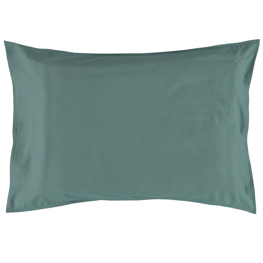 Camomile London Organic Cotton Pillowcase – Teal