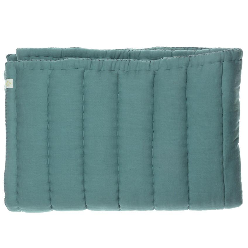 Camomile London Hand Quilted Blanket  Teal