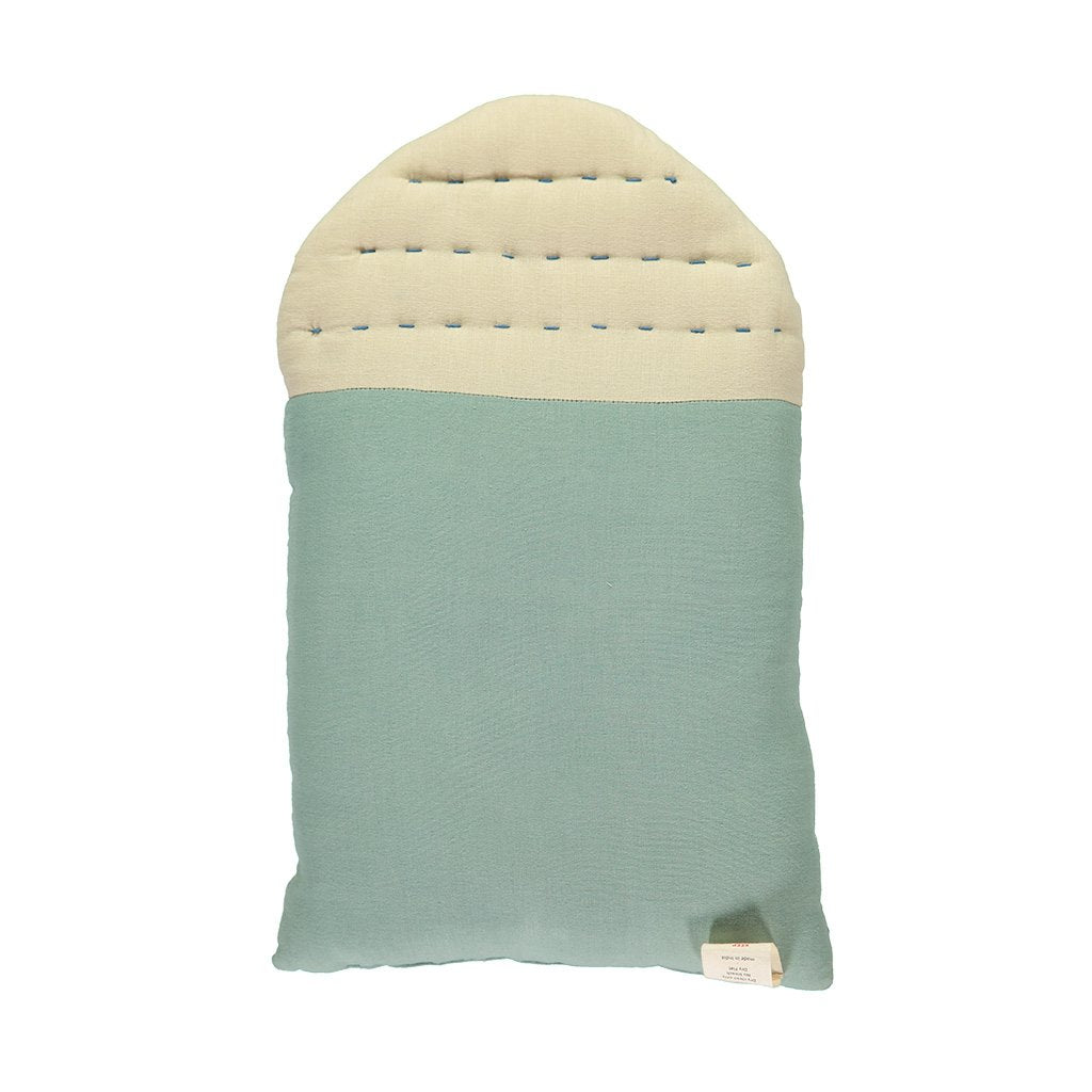 Camomile London Midi House Cushion – Light Teal Body, Stone Roof