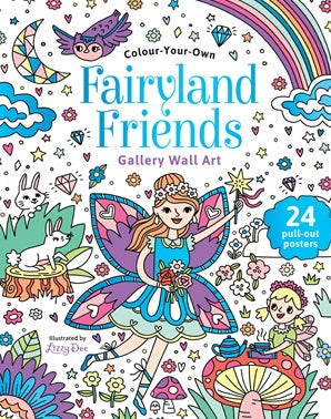 Colour Your Own Fairyland Friends Gallery Wall Art