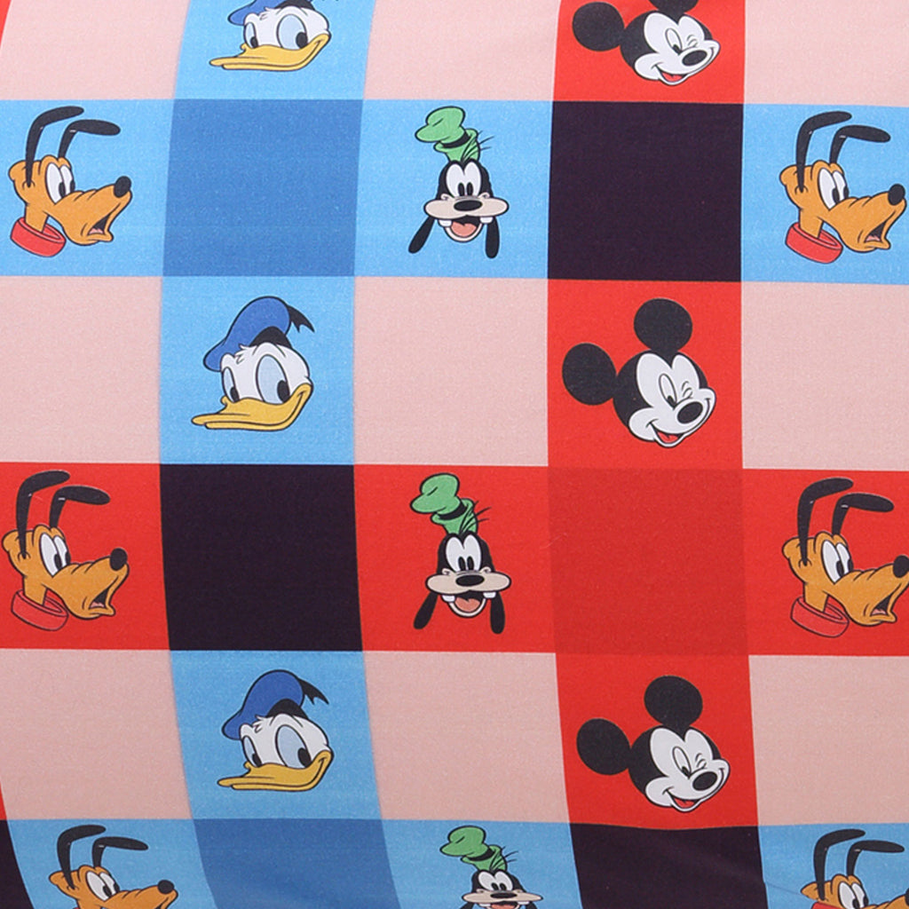 Kip & Co Disney Collaboration  Disney Mates Check Fitted Cot Sheet