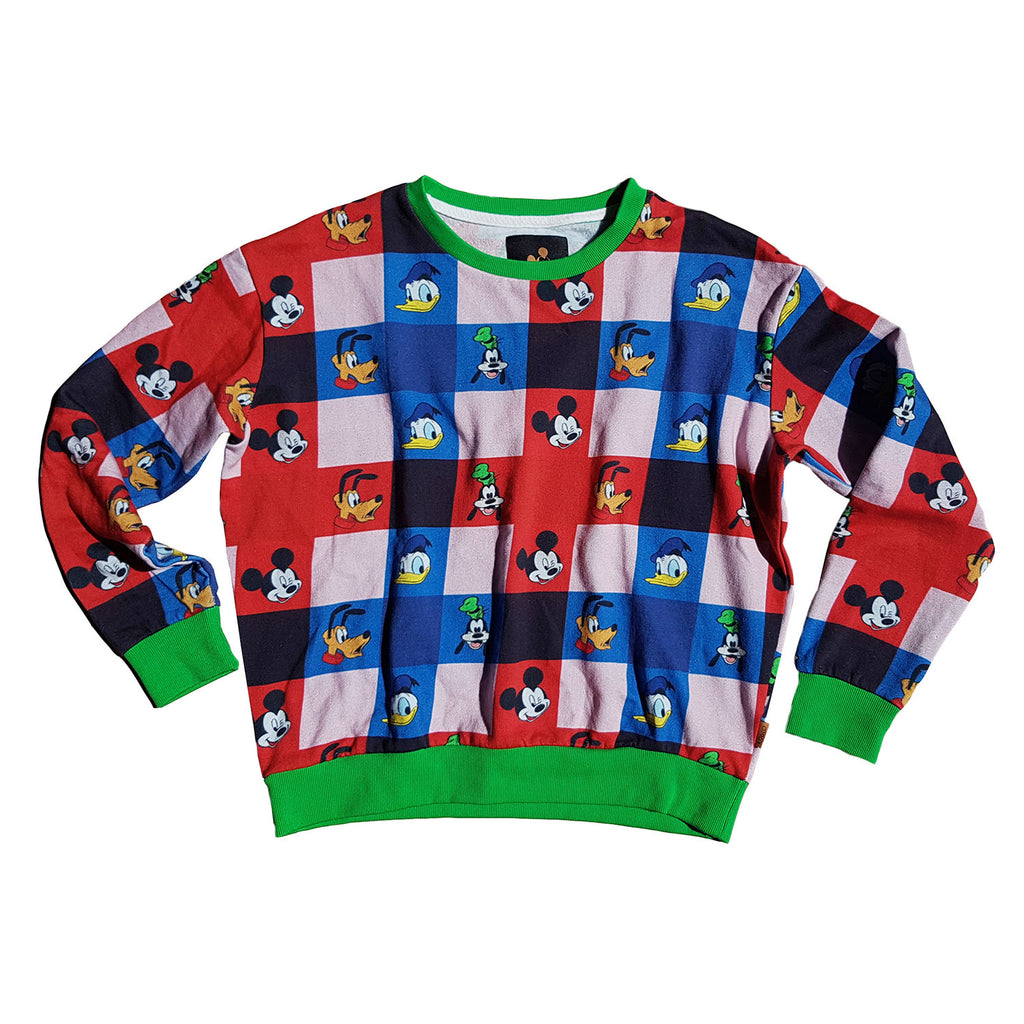 Kip & Co Disney Collaboration  Check Mate Mickey Baby Sweater