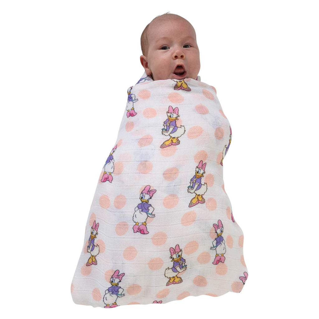 Kip & Co Disney Collaboration  Daisy Dot Bamboo Swaddle Wrap