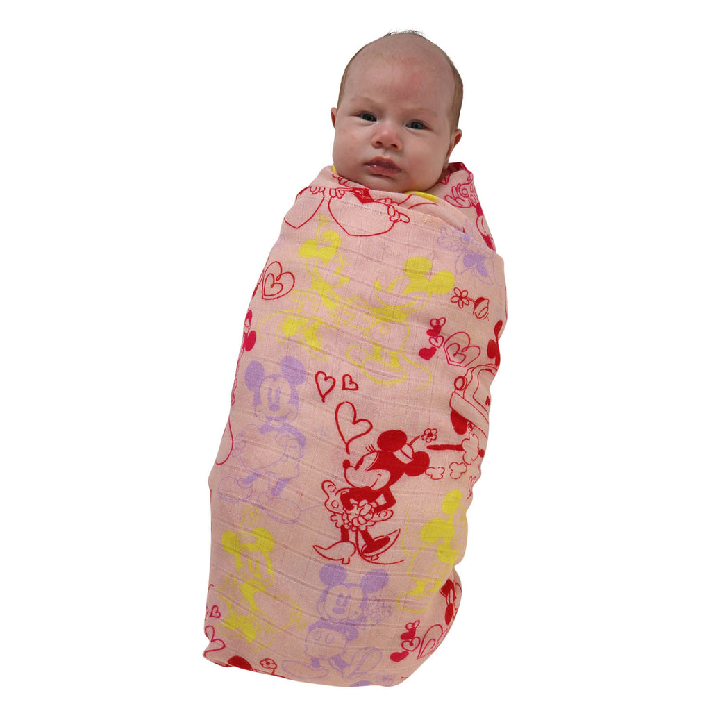 Kip & Co Disney Collaboration - Lover Boy Pink Bamboo Swaddle