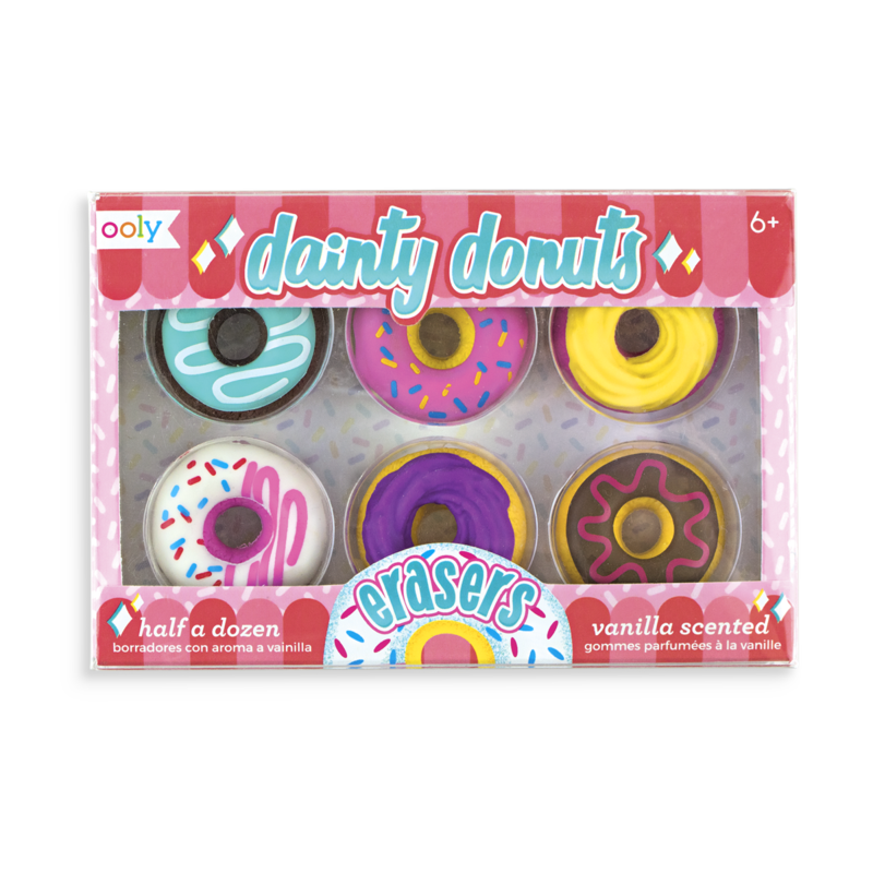 Kids Stationery  Vanilla Scented Erasers  Dainty Donuts
