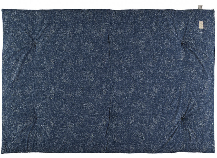 Nobodinoz Eden Futon Play Mat Night Blue with Gold Bubbles