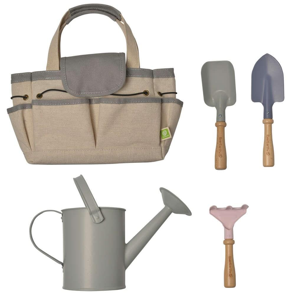 Ever Earth Kids Garden Tools and Bag - Grey