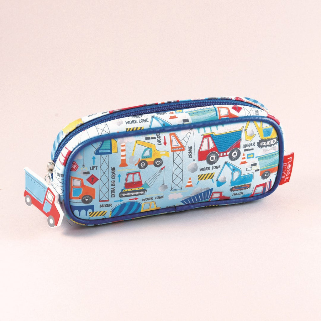 Floss & Rock Kids Pencil Case - Construction
