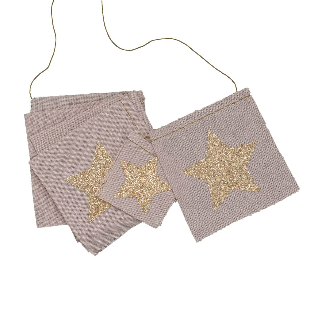 Numero 74 Star Fancy Garland - Dusty Pink
