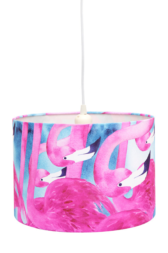 Micky & Stevie Kids Lamp Shades  Pink Flamingo