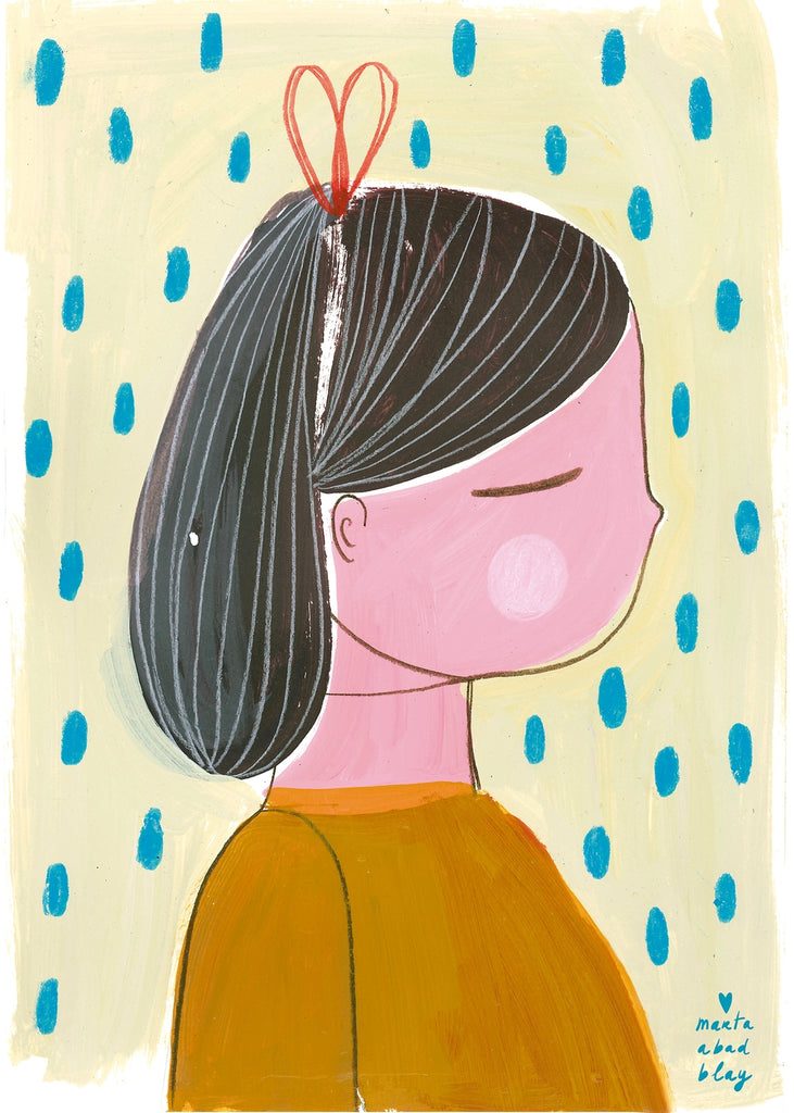 Marta Abad Blay Kids Art Prints - Girl 1