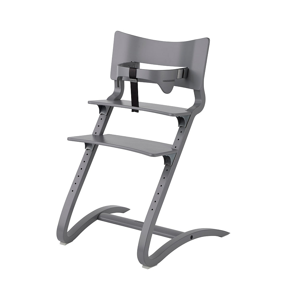 Leander High Chair with safety bar in grey