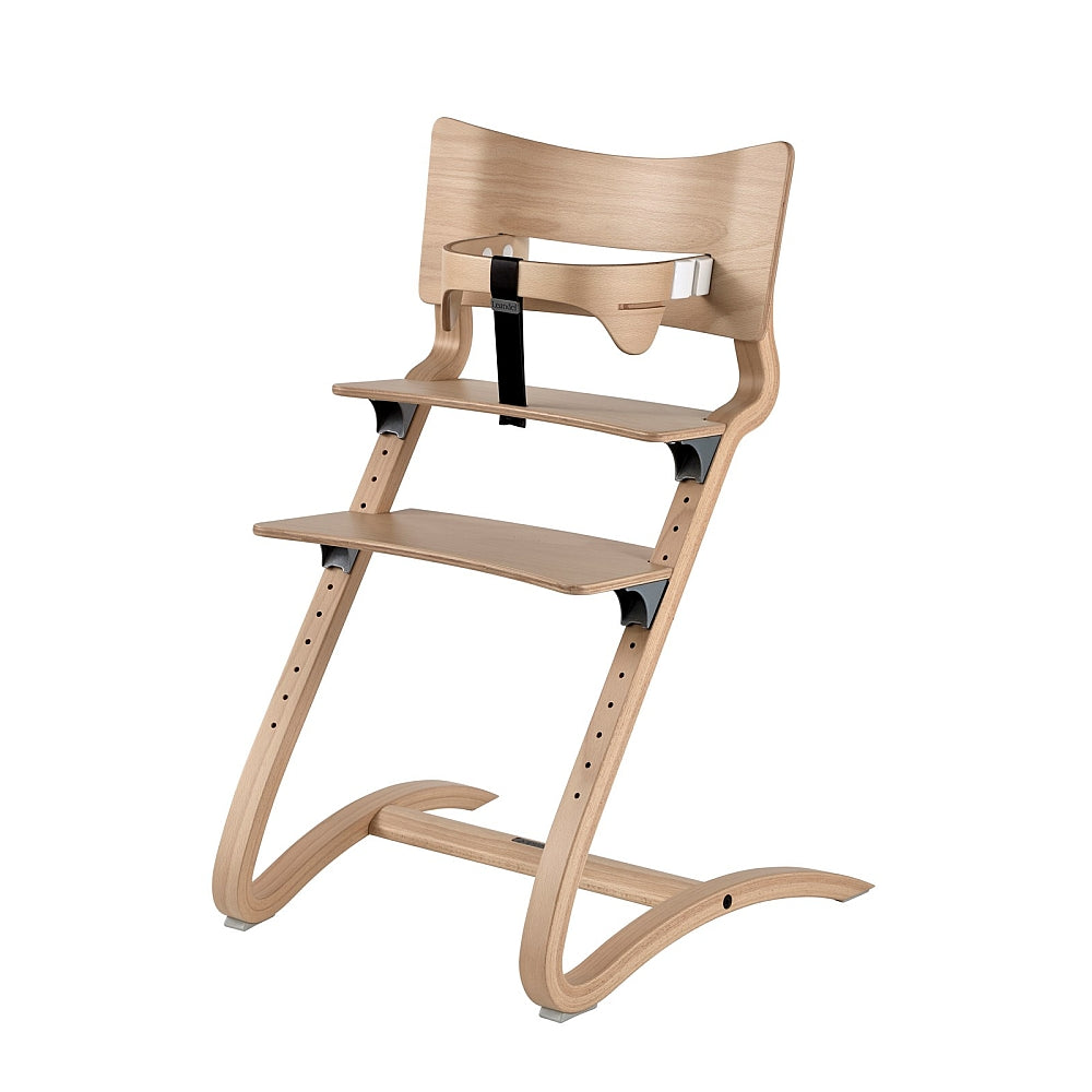 Leander High Chair with safety bar in natural