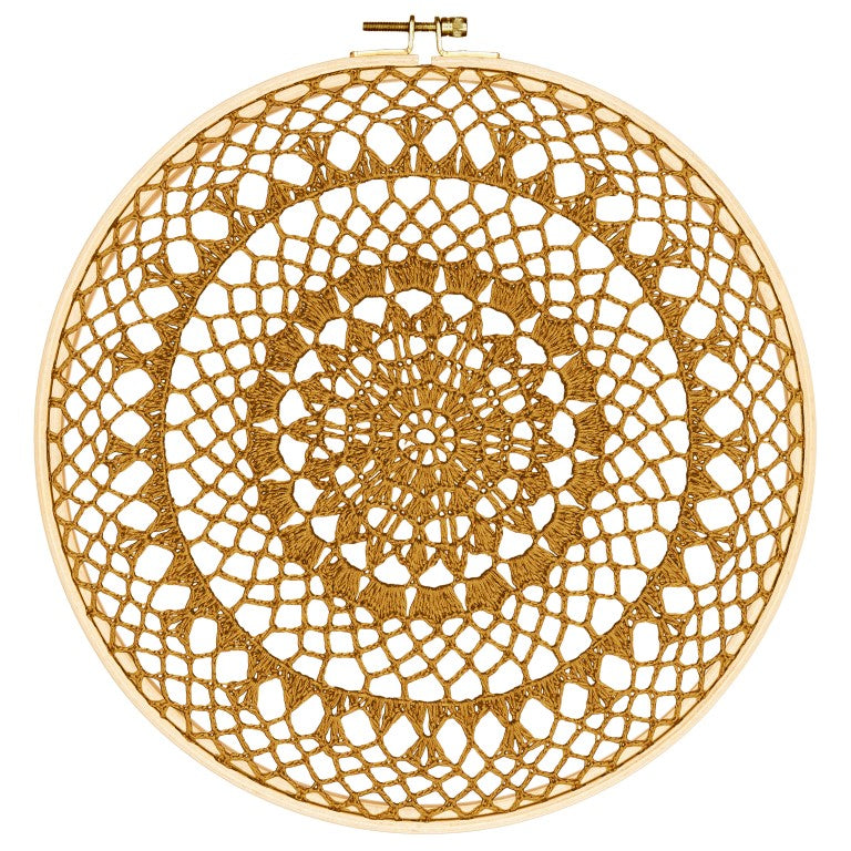 Numero 74 Wall Art - Hoop Crochet Fire - Gold