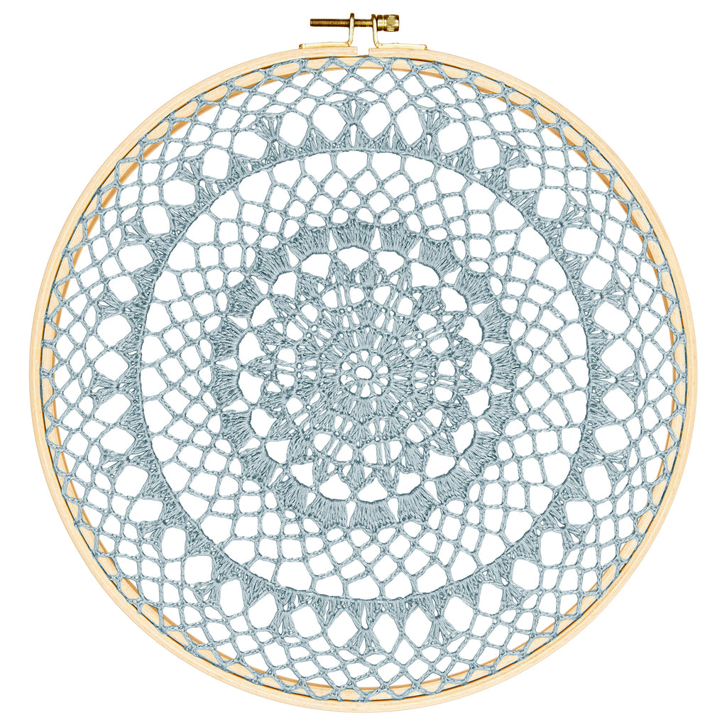 Numero 74 Wall Art - Hoop Crochet Fire - Sweet Blue