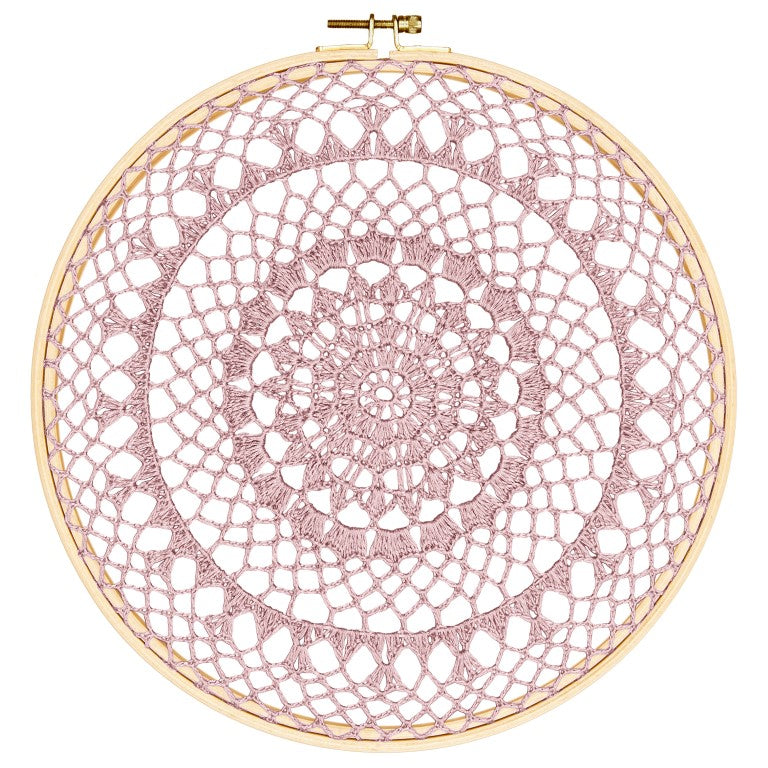 Numero 74 Wall Art - Hoop Crochet Fire - Dusty Pink