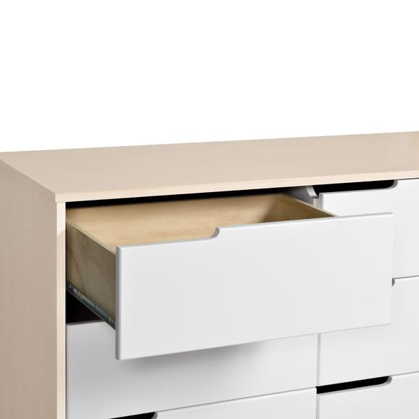Babyletto Hudson 6 Drawer Dresser White and Natural