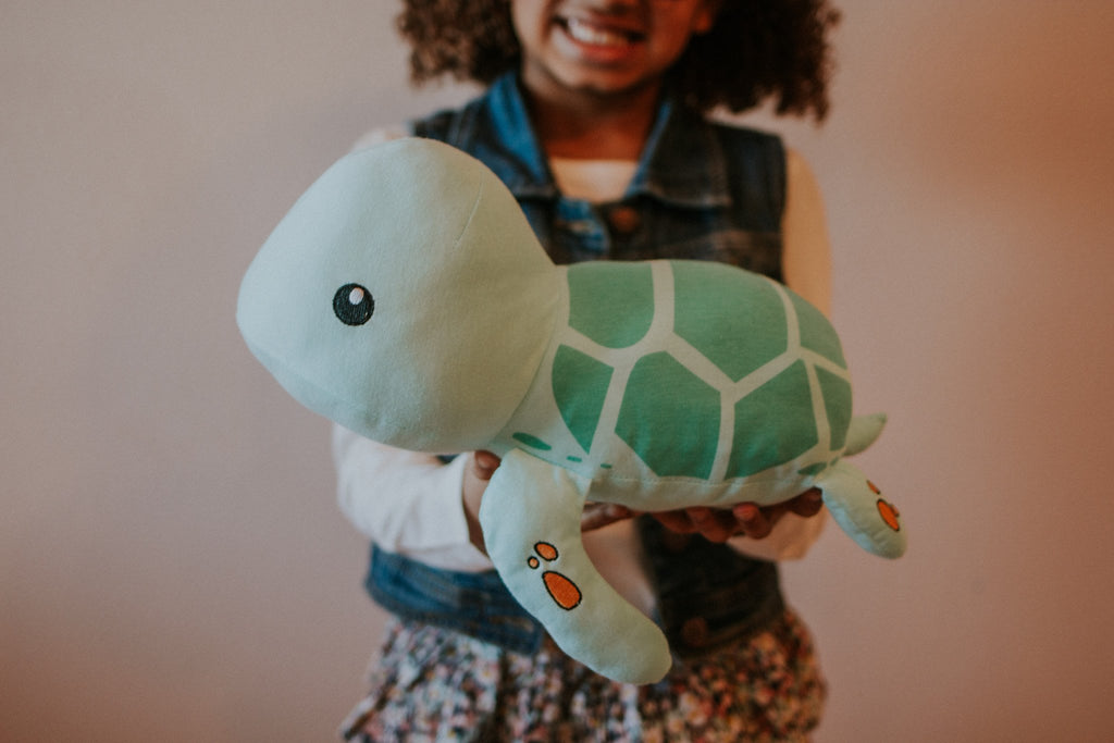 Elly Lu Organic Cotton Animal Soft Toys - Tucker the Sea Turtle
