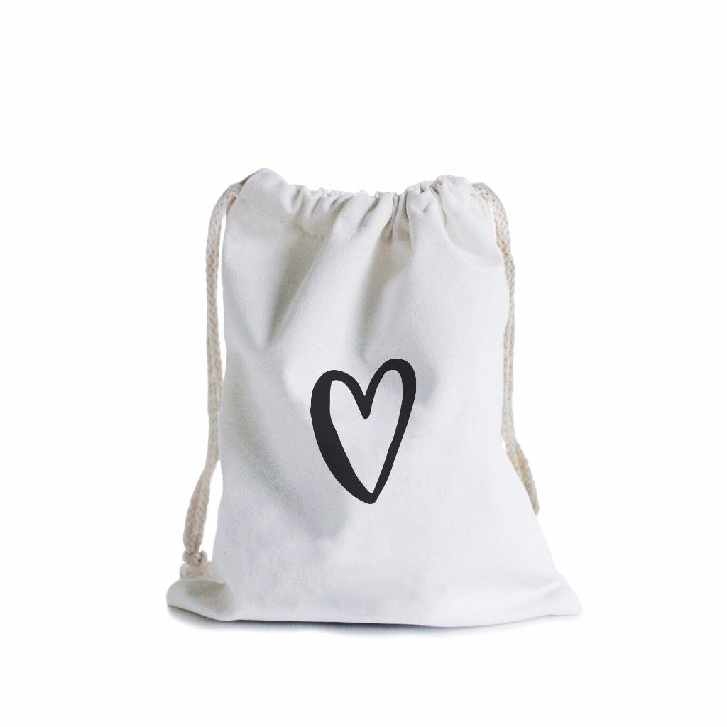 In The Daylight Canvas Gift Bag  Love Heart