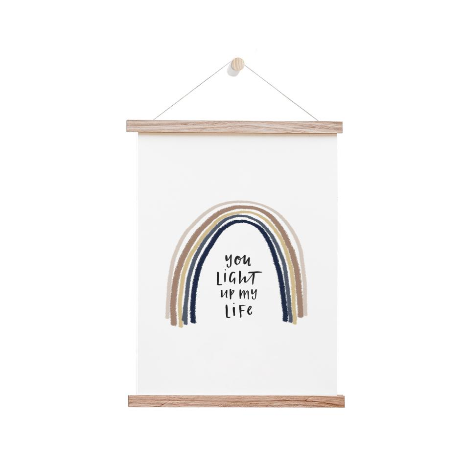 In The Daylight - You Light Up My Life Rainbow Kids Wall Art