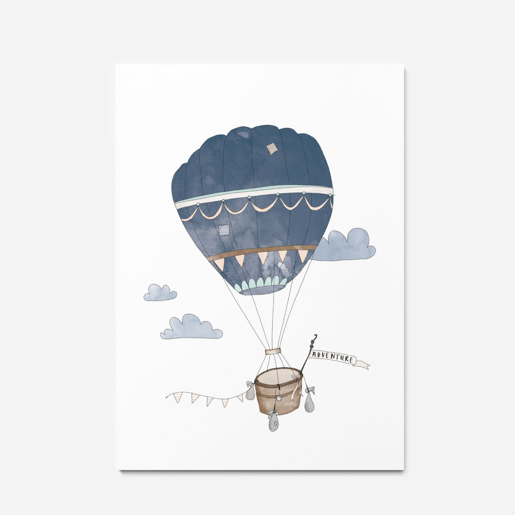In The Daylight - Hot Air Balloon Kids Wall Art