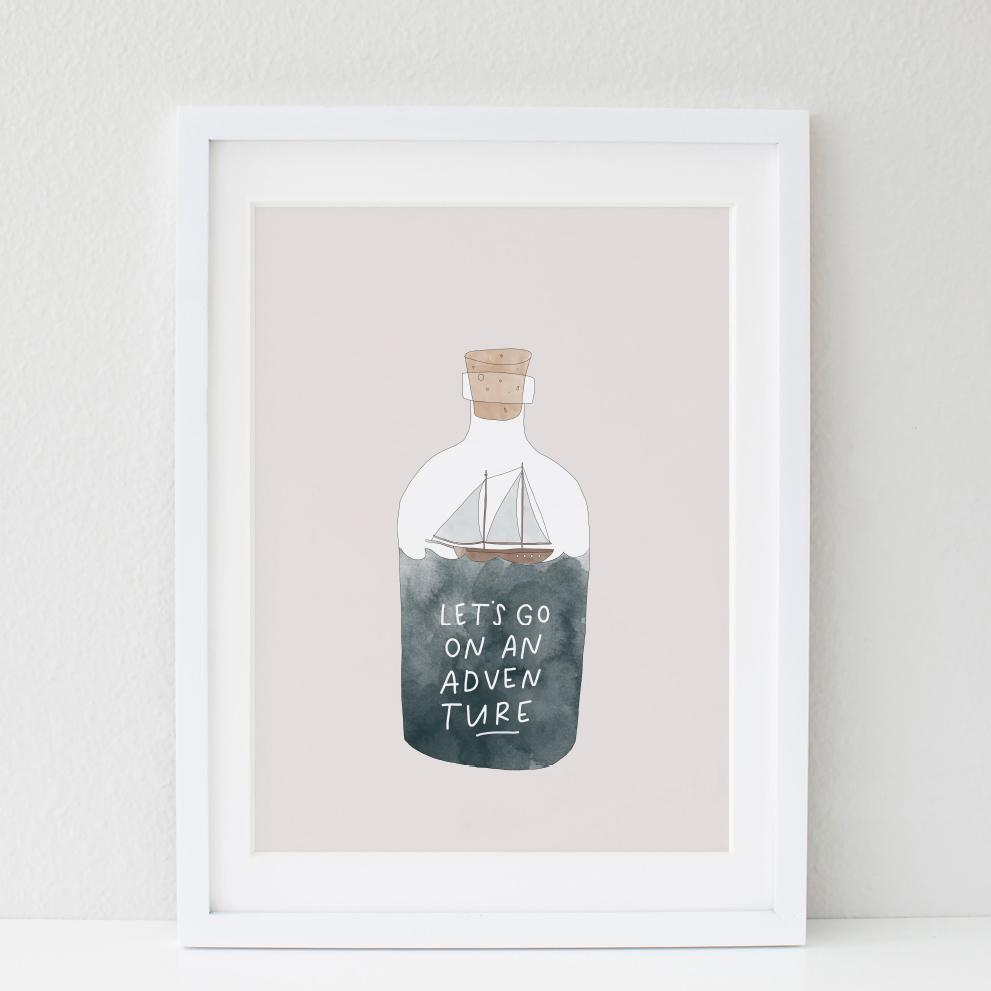 In The Daylight - Let's Go On An Adventure Kids Wall Art