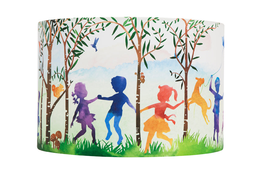 Micky & Stevie Kids Lamp Shades  In The Woods