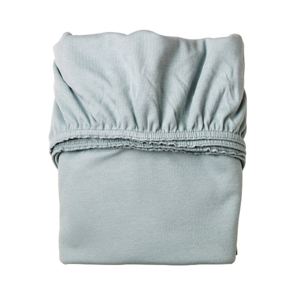 Leander Cot and Junior Bed blue sheet