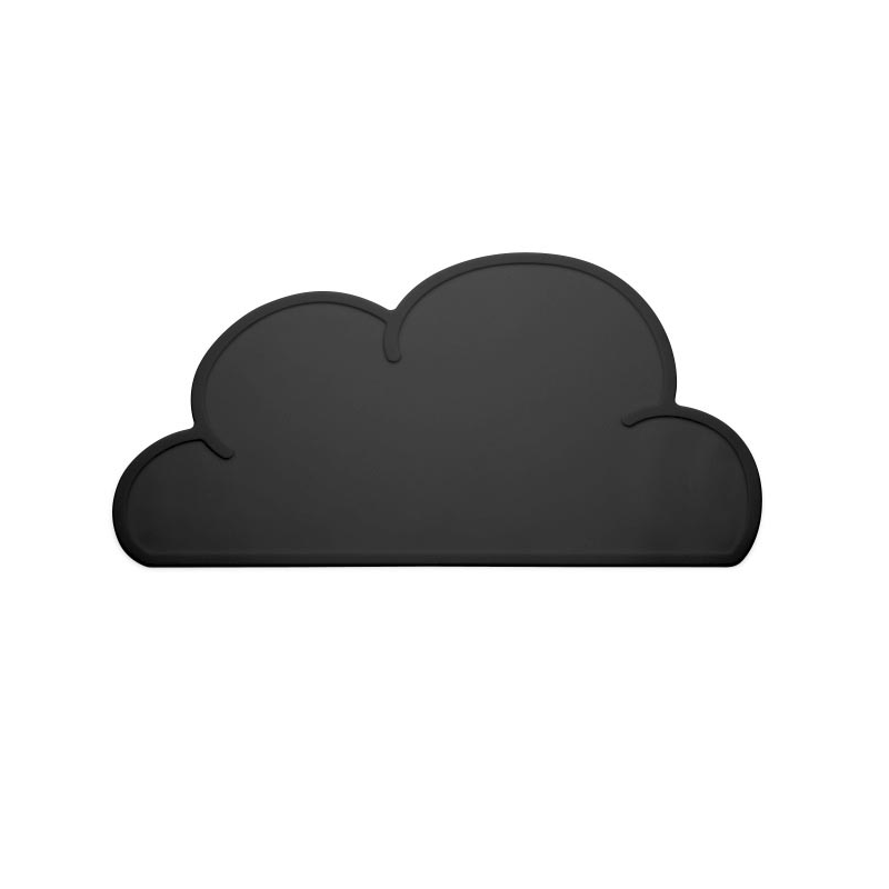 KG Design Silicon Cloud Placemat For Kids – Black
