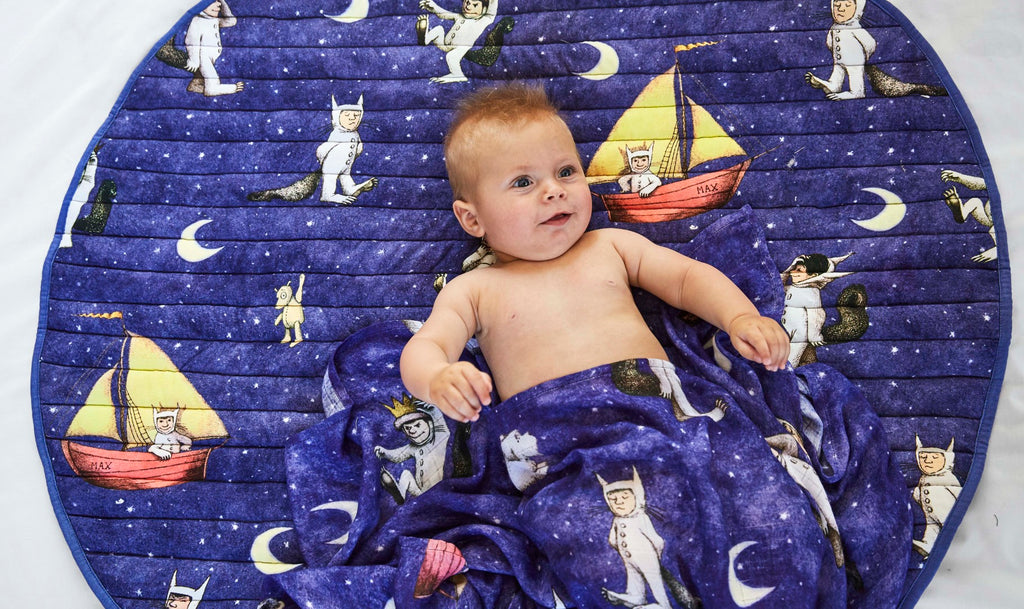 Kip and Co Where The Wild Things Are - Max Night Sky Quilted Playmat