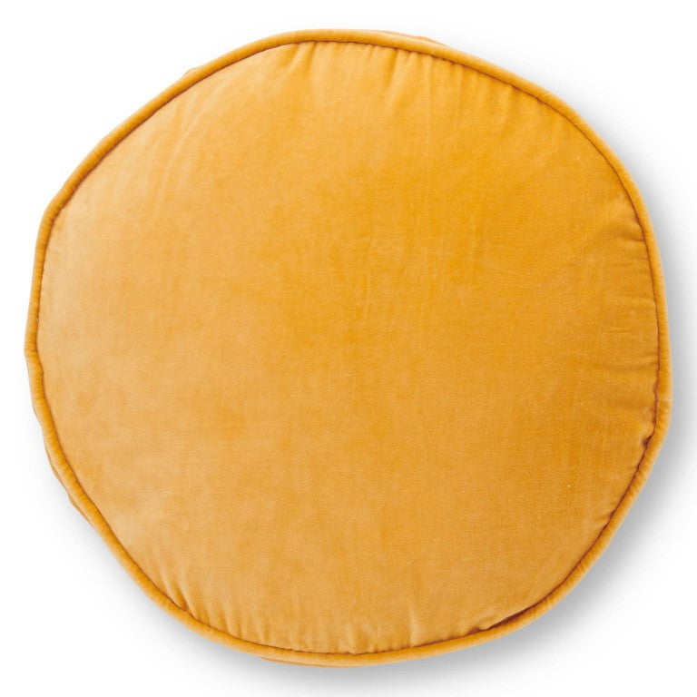 Kip & Co Velvet Pea Cushion - Butterscotch Yellow
